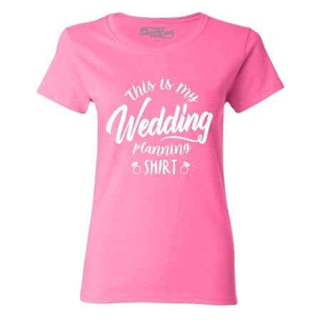 Linen Wedding Clothes - Shop4Ever Women's This Is My Wedding Planning Shirt Graphic T-Shirt