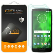 [2-Pack] Supershieldz for Motorola Moto G6  Tempered Glass Screen Protector, Anti-Scratch, Anti-Fingerprint, Bubble Free