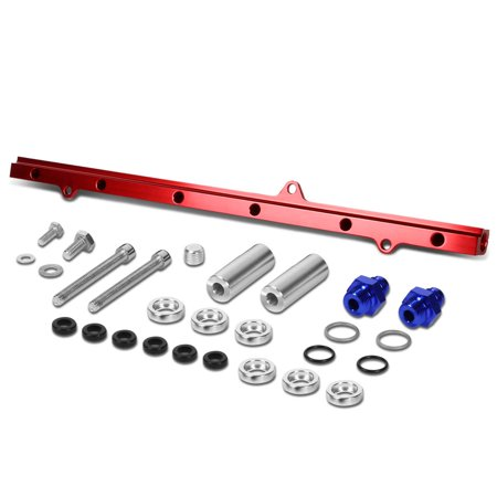 For 1993 to 1998 Supra Top Feed High Flow Fuel Injector Rail Kit (Red) - 2JZ -GTE JZA80 94 95 96