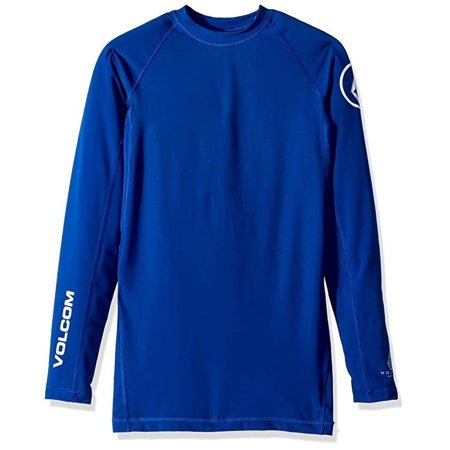 Volcom Men's Lido Solid Long Sleeve Rashguard, Camper Blue, SZ  Medium
