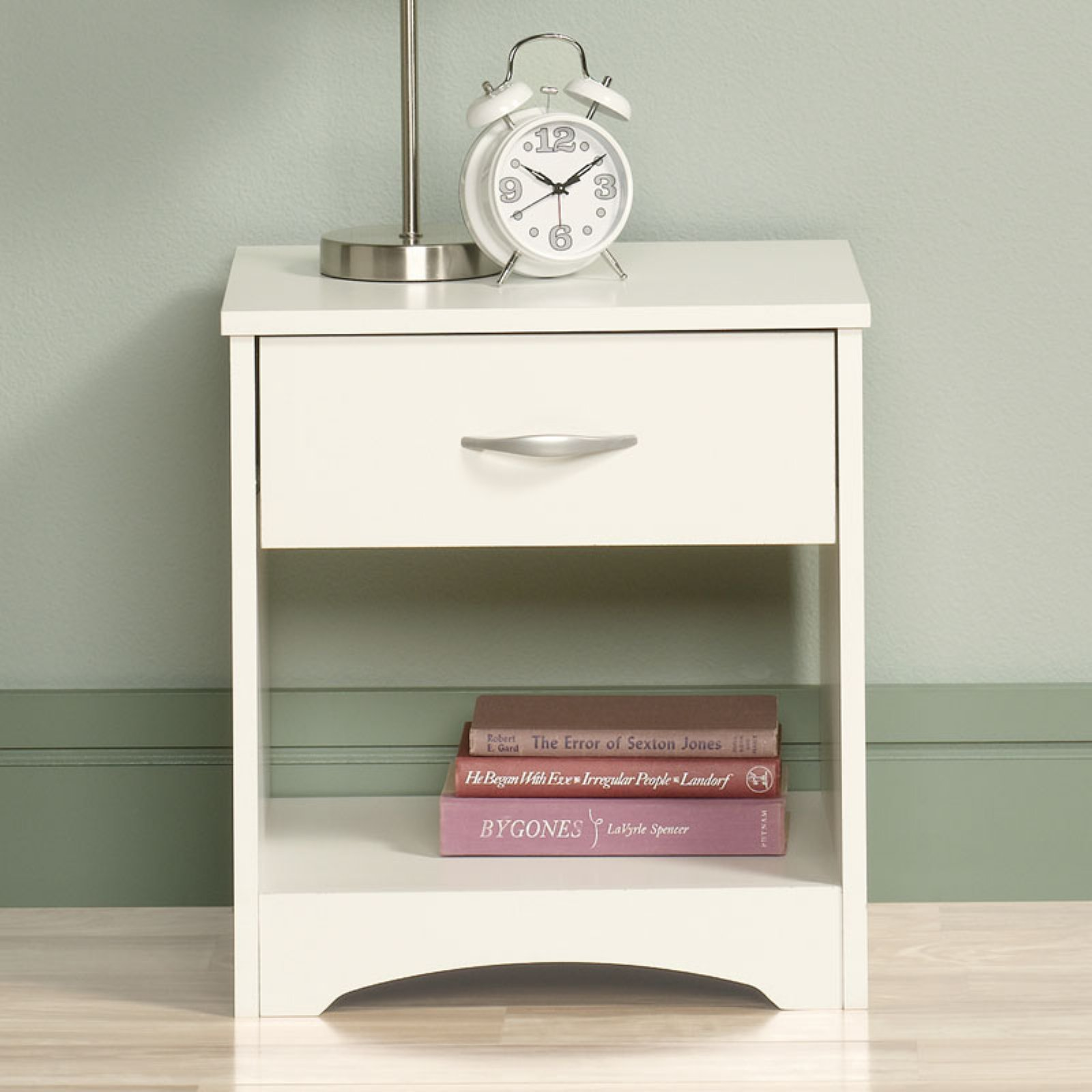 Sauder Furniture Beginnings 1-Drawer Nightstand, Soft White by Sauder