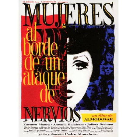 27 x 40 Women on the Verge of a Nervous Breakdown Movie Poster, Women on the Verge of a Nervous Breakdown movie posters are rolled in newsprint to protect.., By -
