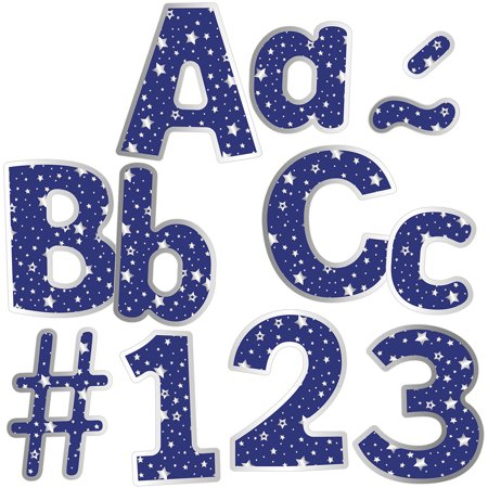 Choose Letter - Sparkle and Shine Navy with Silver Stars EZ Letters