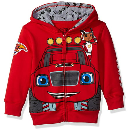 Nickelodeon Toddler Boys' Monster Machines Lets Blaze Hoodie, Red, 4T