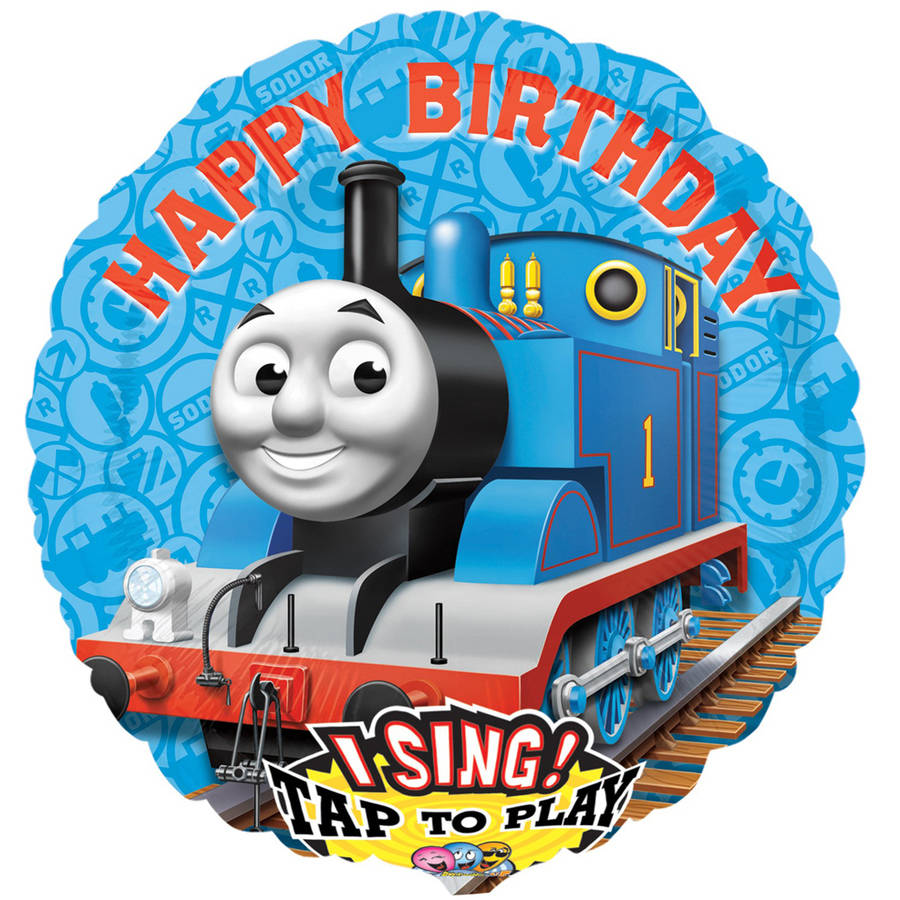 "Thomas the Train Jumbo Singing 28"" Foil Balloon"