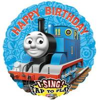 """Thomas the Train Jumbo Singing 28"""" Foil Balloon"""