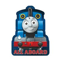 Thomas & Friends All Aboard Jumbo Party Invitations With Red Envelopes - 8in. x 6in. - 8 Pack