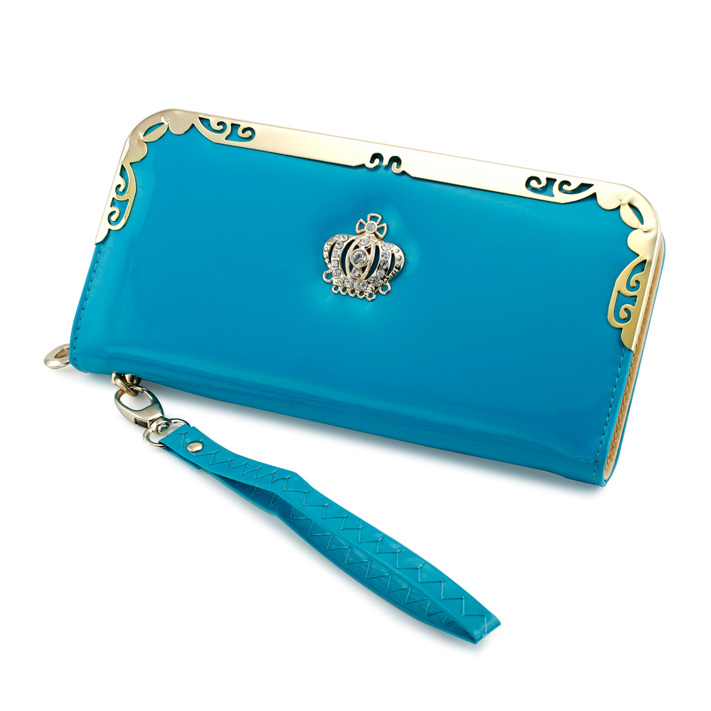 Fashion Lady Women Crown Leather Bifold Clutch Wallet Long Card Holder Case Purse Handbag Bags