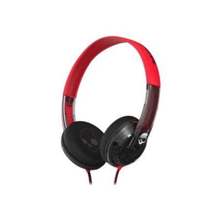 Skullcandy UPROCK - Headphones - on-ear - wired - 3.5 mm jack - clear, chrome, spaced out Skullcandy Silver Headphone