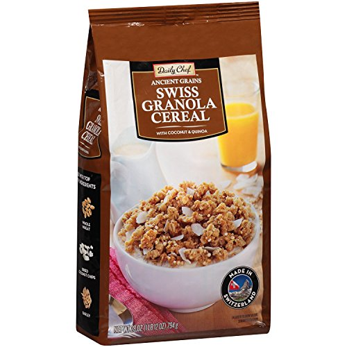Daily Chef Ancient Grains Swiss Granola Cereal with Coconut and Quinoa, 28 Ounce