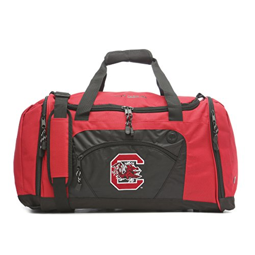 NCAA South Carolina Gamecocks Roadblock Embroidered Duffel Bag, 20-Inch, Maroon