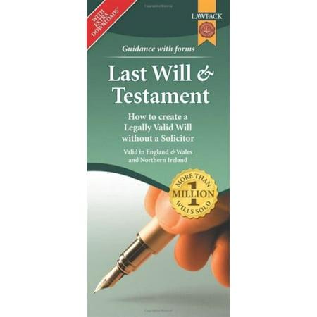 Last Will & Testament Form Pack (Loose Leaf)