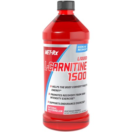 MET-Rx Liquid L-Carnitine 1500, Watermelon, 16 Fl
