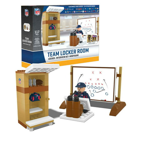 All NFL Teams Official Buildable Clubhouse Locker Room by Oyo 054964 (Ground Locker Room)