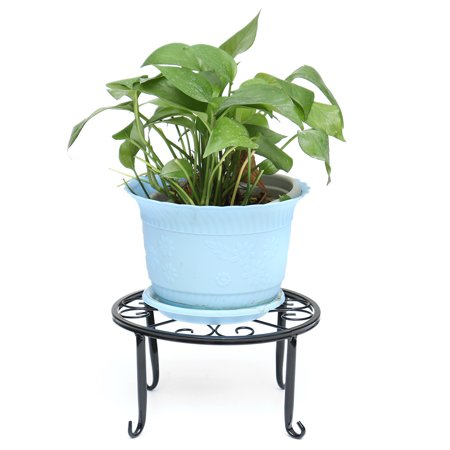 24*24*13cm Decorative Planter Holder Wrought Iron Flower Pot Round Hollow-out Plant Stand Flower Shelf House Decor Rack Holder Garden (Wrought Iron Wall Mounted Flower Pot Holder)