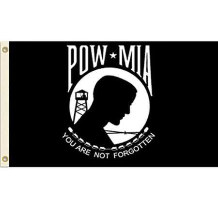 Veterans Day Flag (POW-MIA Flag POW MIA Banner Military Veteran Pennant New Indoor Outdoor 2x3 Foot, Vista Flags By Vista)