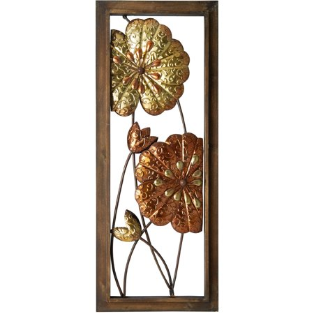 Elements metal floral wall decor for Walmart art decor