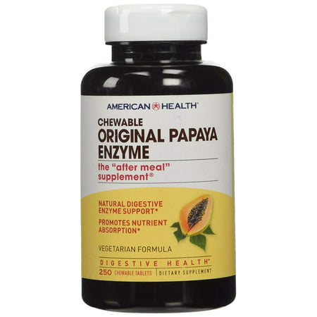Products - Original Papaya Enzyme, 250 chewable tablets, Serving Size - 3 chewable tablets By American Health