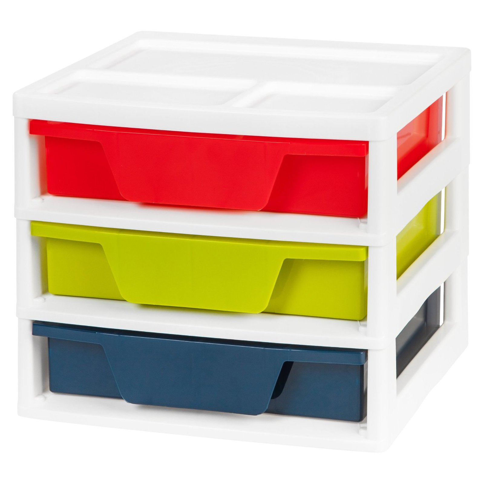 IRIS 3-Case Activity Storage Chest with Organizer Top, Multicolor