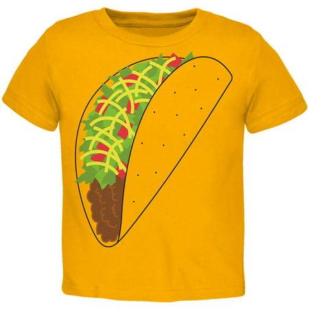 Halloween Taco Food Costume Toddler T Shirt](Diy Taco Costume)
