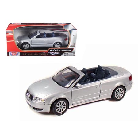 2004 Audi A4 Convertible Silver 1/18 Diecast Model Car by (2004 Audi A4 1-8 T Convertible Review)