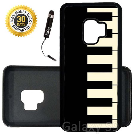 Custom Galaxy S9 Case (Piano Keys) Edge-to-Edge Rubber Black Cover Ultra Slim | Lightweight | Includes Stylus Pen by Innosub ()