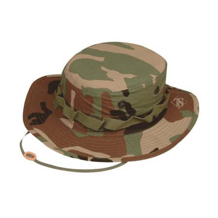 Camo Bucket Hats (Tru-Spec 3223 Cotton Rip-Stop Boonie Hat, Bucket Hat, Woodland)