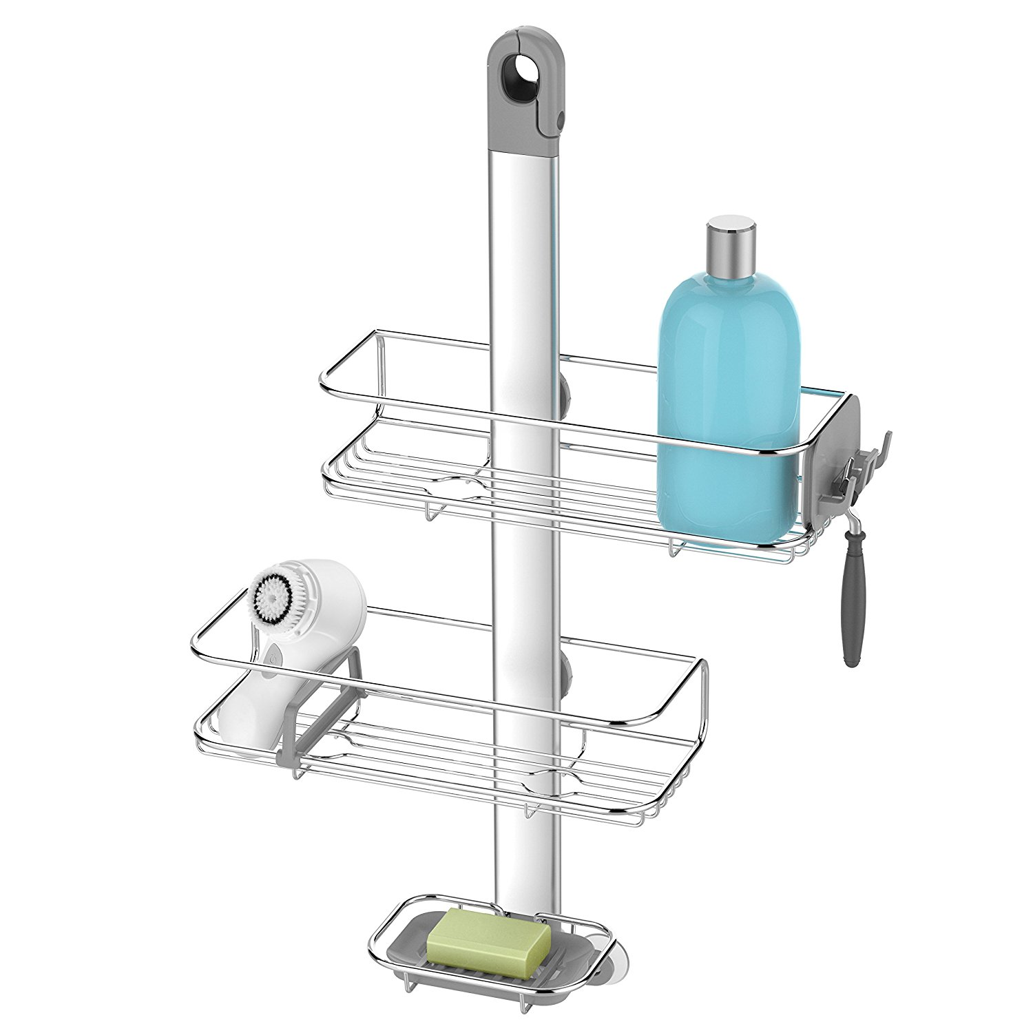 Adjustable Shower Caddy, Stainless Steel and Anodized Alu...