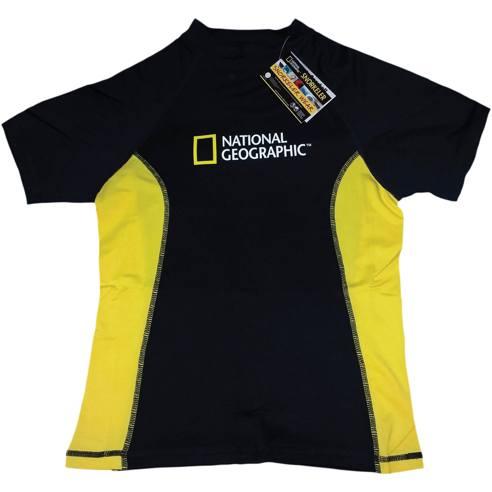 National Geographic Snorkeler Short Sleeve Rash Guard Ladies Classic, 50+ UV Protection, Anti-Bacterial Fast Dry... by National Geographic Snorkeler