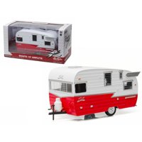Greenlight 18225 1 isto 24 Shasta Airflyte 15 ft. Camper Trailer for Model Car & Trucks Diecast Model, Red