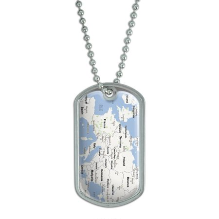 - Europe Map - Favorite Places Dog Tag