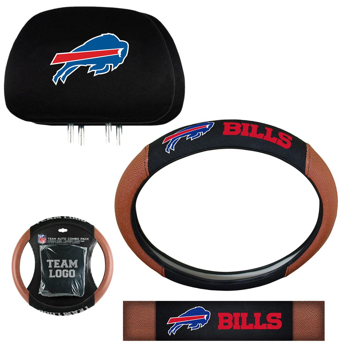 NFL Buffalo Bills Steering Wheel Cover & Headrest Combo