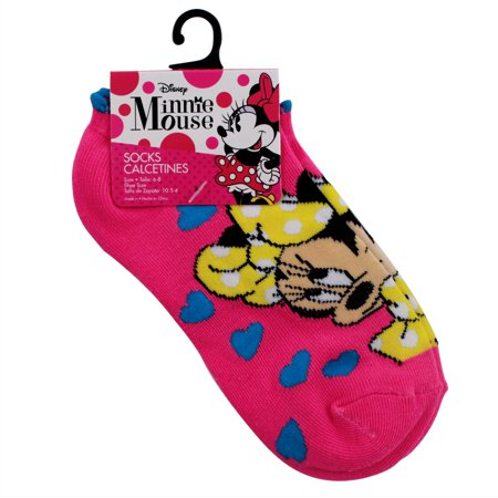 Disney Minnie Mouse Kids Ankle Socks Girls Clothes - Size 6 - 8