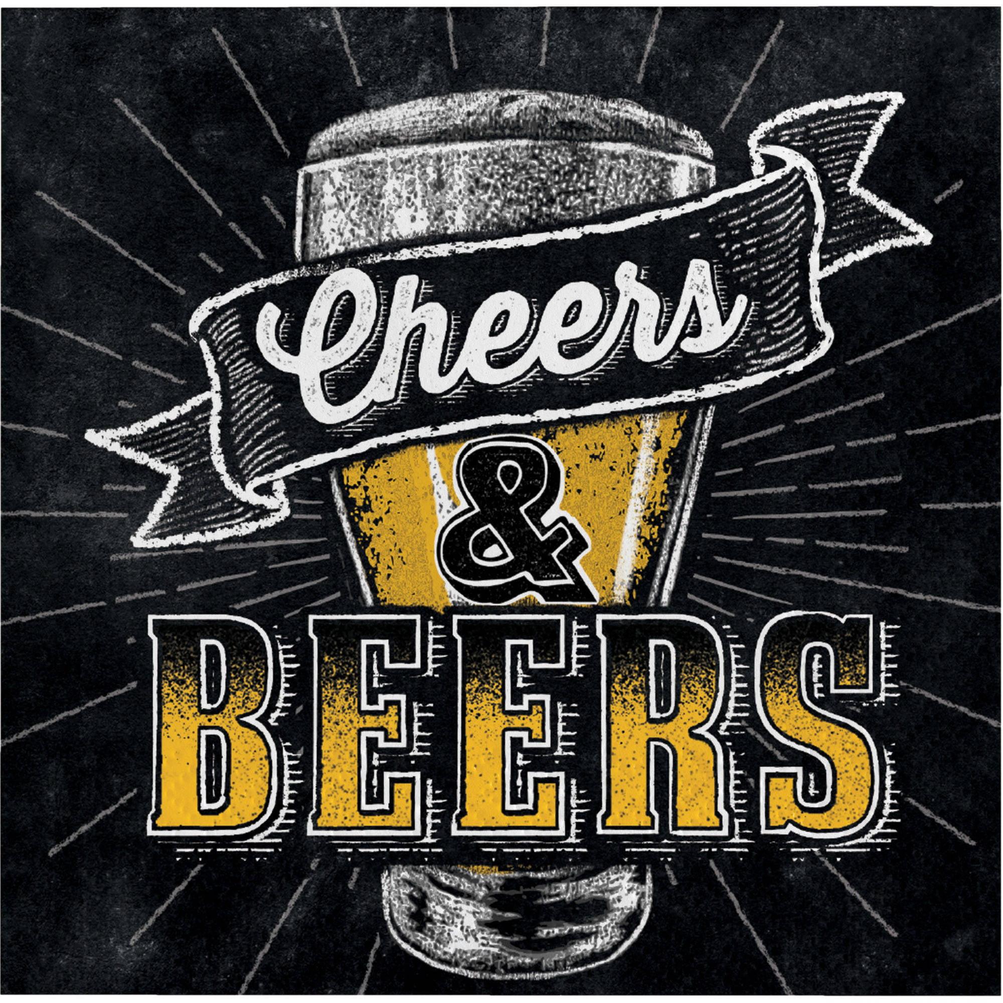 Cheers & Beers Beverage Napkins, 16-Pack by CREATIVE CONVERTING