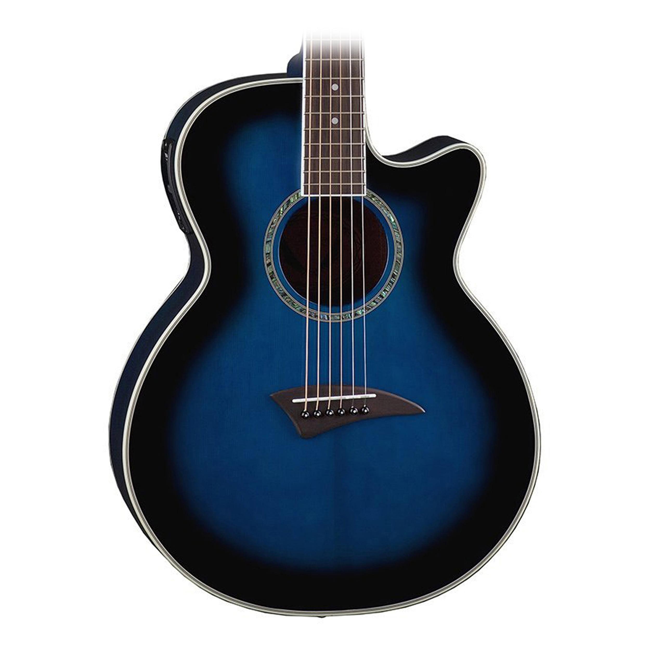 Dean AXS Performer Acoustic Electric Guitar Blue Burst by Dean