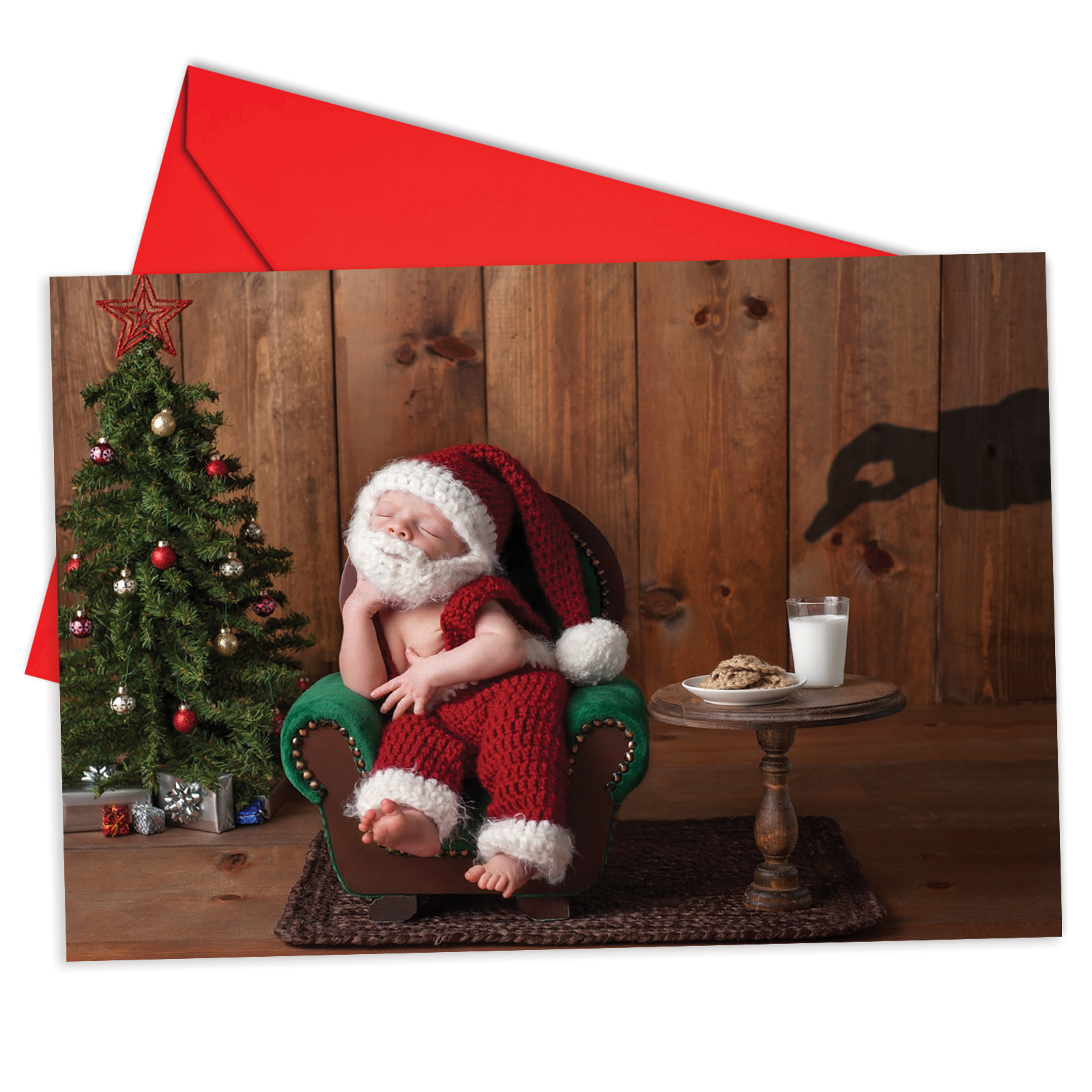 'B6665DXSG Visions Of Christmas Christmas Cards' Box Set of 12 Humorous Merry Christmas Greeting Cards with Envelopes by NobleWorks