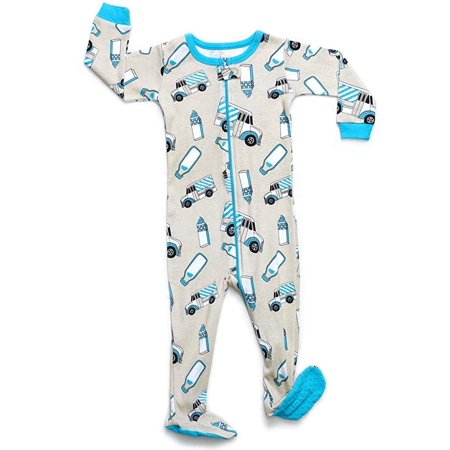 f0fd51f59 Leveret - Leveret Organic Cotton Milk Truck Footed Pajama Sleeper 6 ...