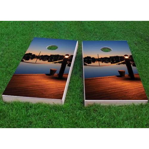 Custom Cornhole Boards Pier Cornhole Game (Set of 2) by Custom Cornhole Boards