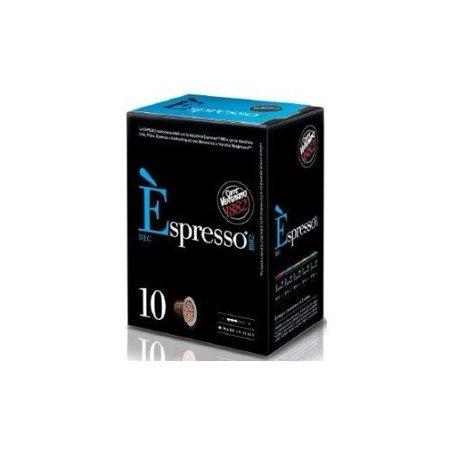 caffe vergnano espresso capsules for nespresso machines decaf 50 gram. Black Bedroom Furniture Sets. Home Design Ideas
