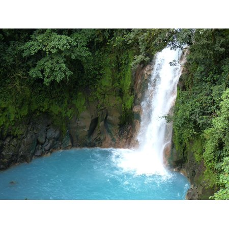 LAMINATED POSTER Central America Waterfall Rainforest Jungle Poster Print 24 x 36