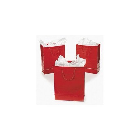 Large Red Gift Bags (1 dozen) - Bulk [Toy]