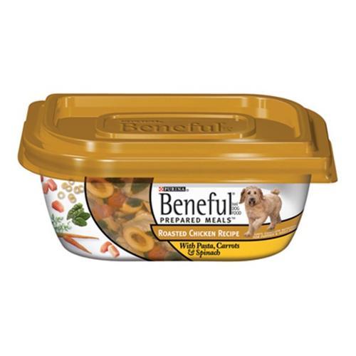 Purina Beneful Prepared Meals Roasted Chicken Recipe Dog Food 10 oz. Plastic Tub