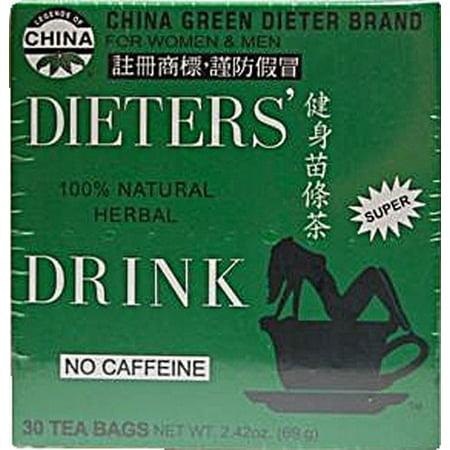 China Green Dieters Tea Caffeine Free 30 Tea Bags