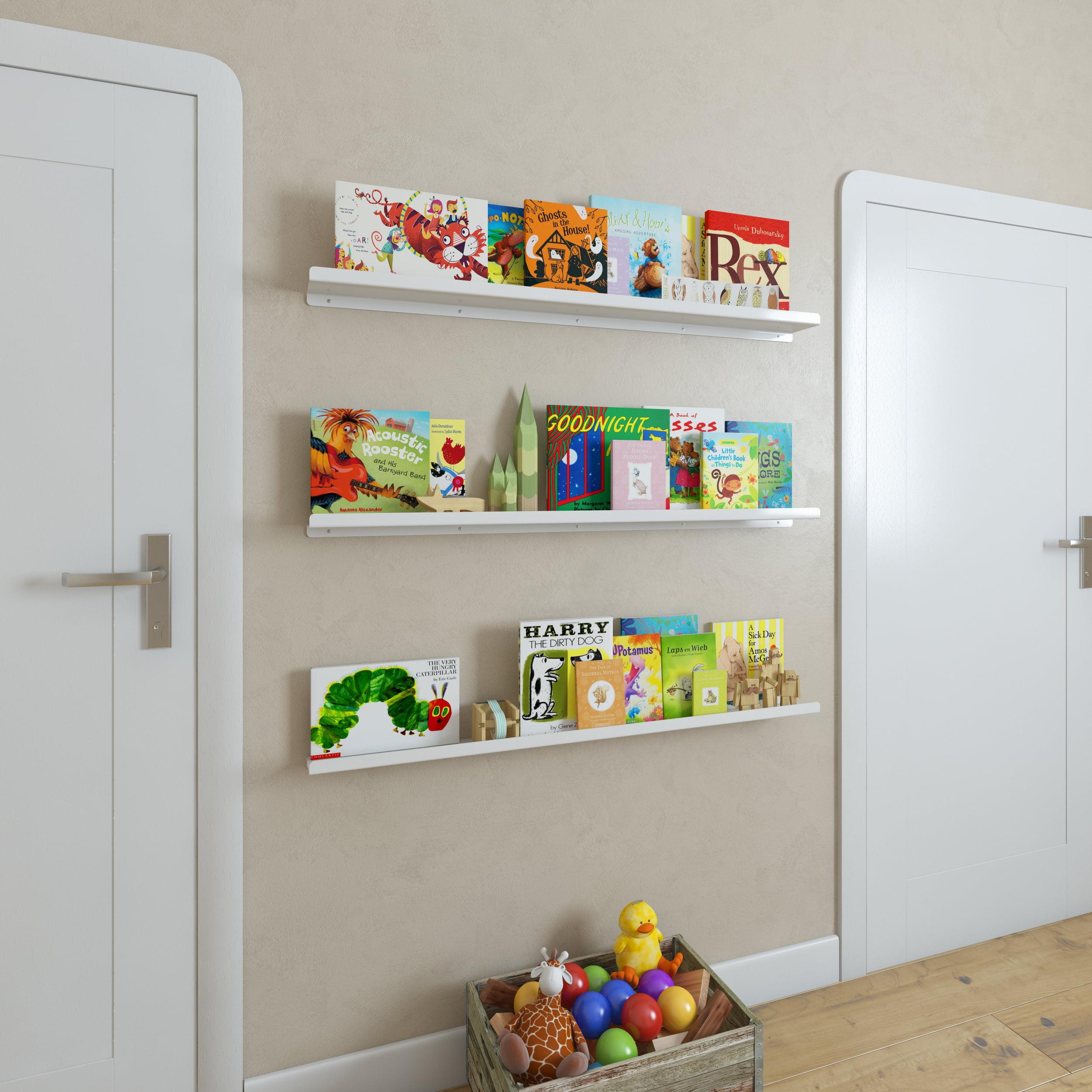 Wallniture Metallo 46'' Floating Shelves for Kids Room Decor and