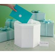Celebrate Decor Eyelet Gift Card Box-whi