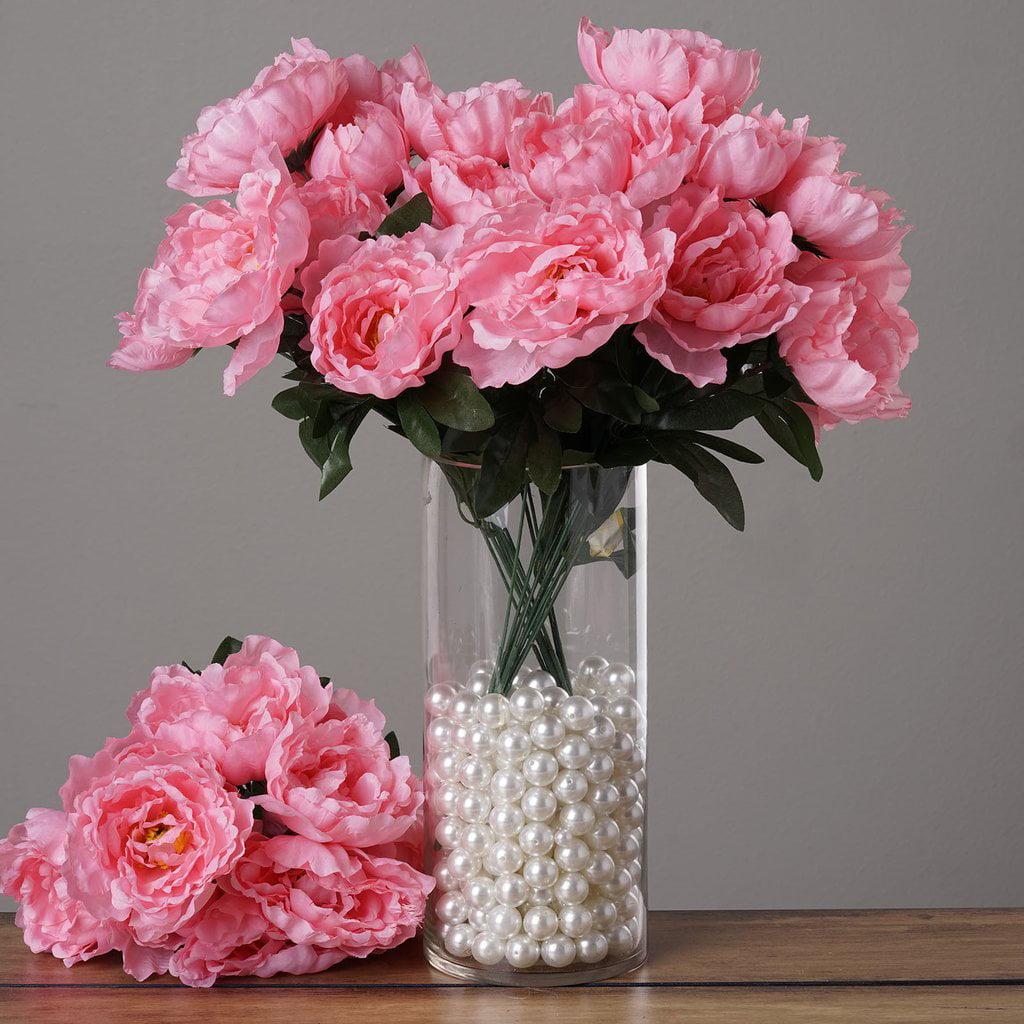 BalsaCircle 40 Silk Peony Flowers - DIY Peonies Home Wedding Party Artificial Bouquets Arrangements Centerpieces