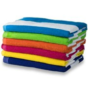 "Cabana Stripe Beach Towel 6 Pack - 30"" x 60"""