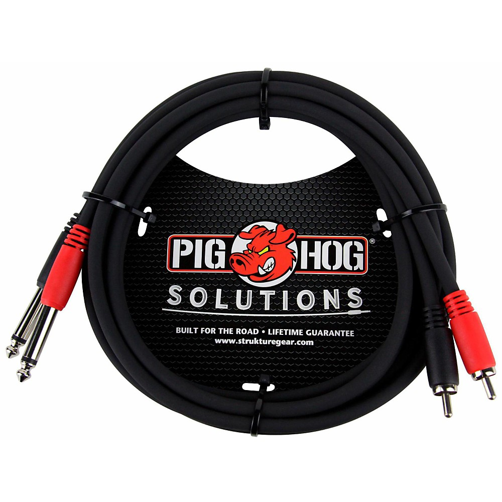 "Pig Hog Solutions Dual Cable RCA to 1/4"" (3 ft.) 6 ft."