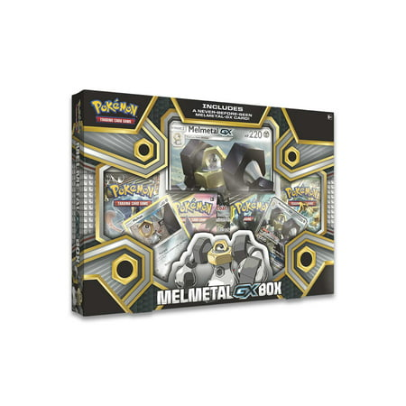 Alakazam Pokemon Card - POKEMON MELMETAL-GX BOX |2 Foil Cards plus 1 Oversize Foil Card | 4 XY Series Booster Packs