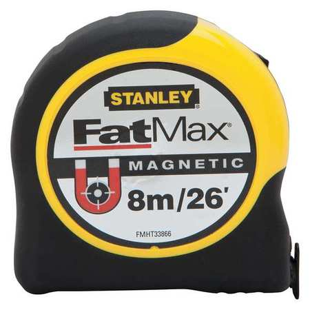 STANLEY Measuring Tape,26 ft./8m,Magnetic Hook FMHT33866